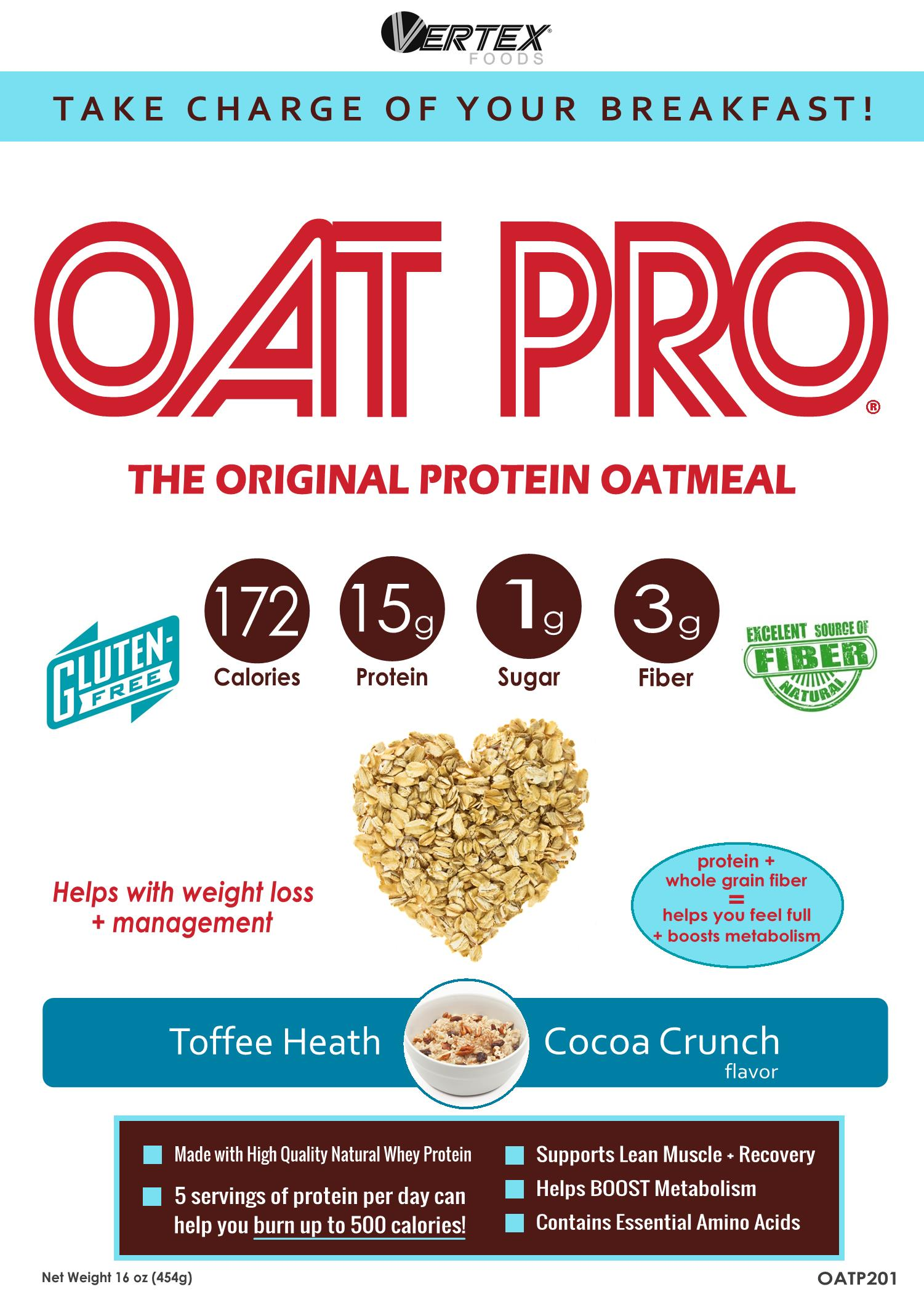 Toffee heath cocoa crunch oatpro for Perfect bake pro system