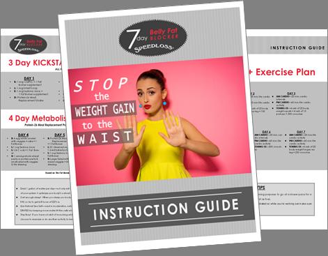 7 day BELLY FAT BLOCKER SPLS instruction guide image